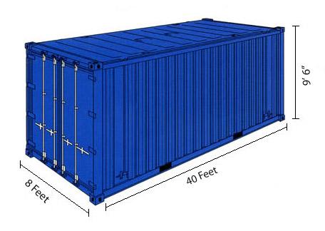 40ft контейнер